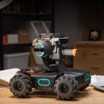 It's a tank-like robot that shoots laser and gel pellets, and it comes with with a high quality camera.